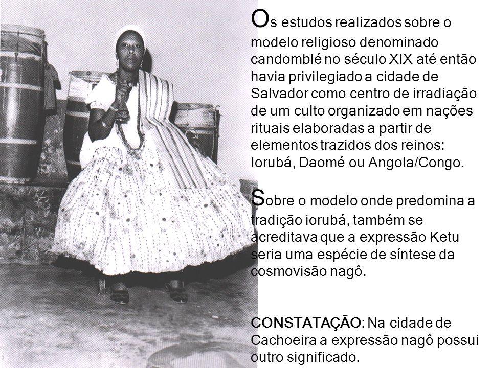 O s estudos realizados sobre o modelo religioso denominado candomblé no século XIX até então havia privilegiado a cidade de Salvador como centro de ir