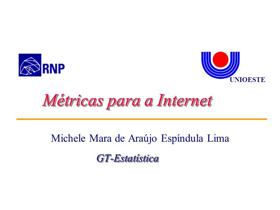 Michele Mara de Araújo Espíndula Lima UNIOESTE Métricas para a Internet GT-EstatísticaGT-Estatística
