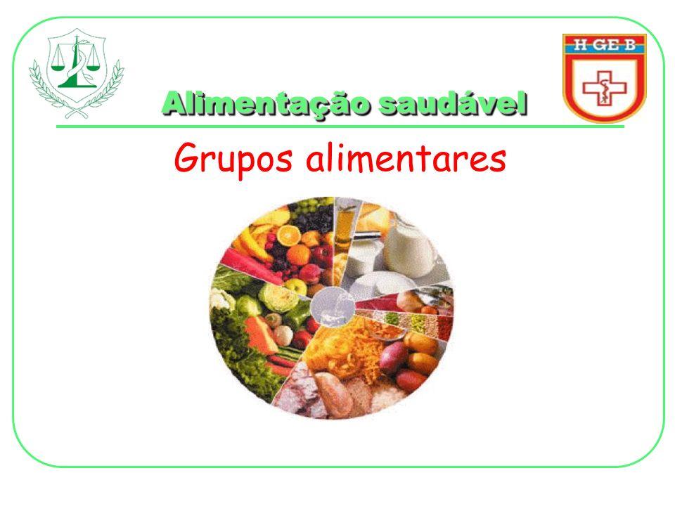Alimentação saudável Grupos alimentares
