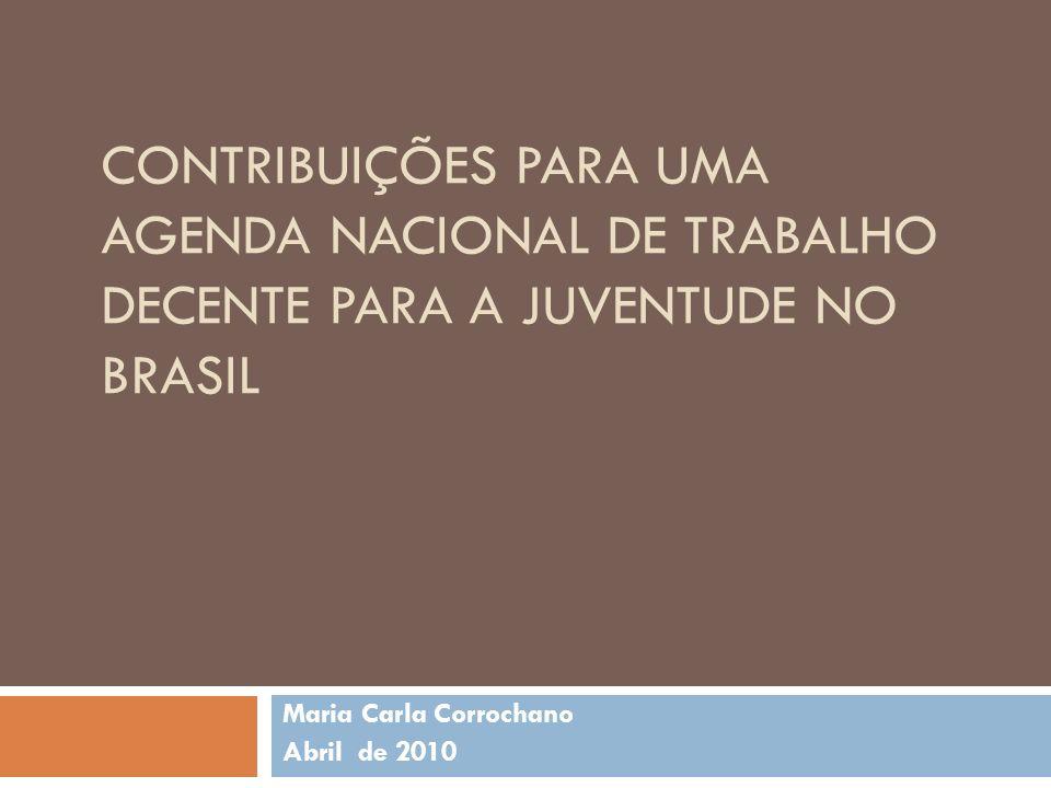 Esquema da apresentação A.Por que uma agenda de trabalho decente para a juventude brasileira.