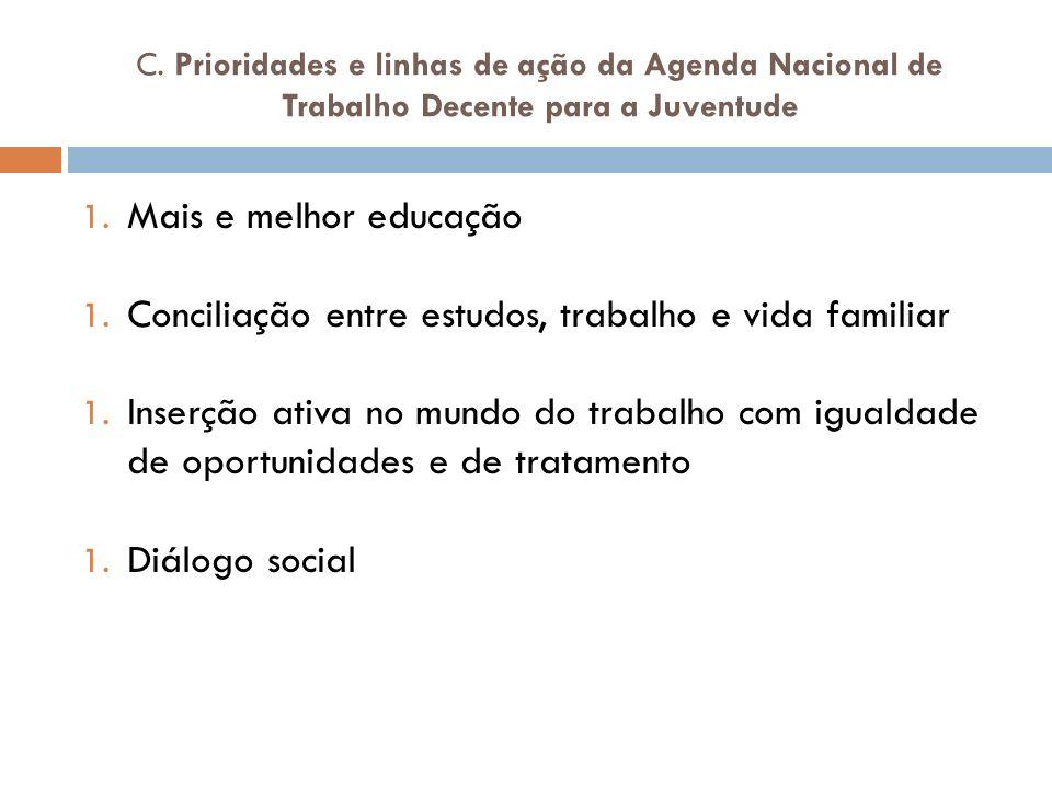 Prioridade 1 MAIS E MELHOR EDUCAÇÃO 1.