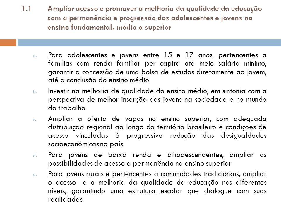 1.2Promover e qualificar a maior aproximação entre o mundo do trabalho e as escolas a.