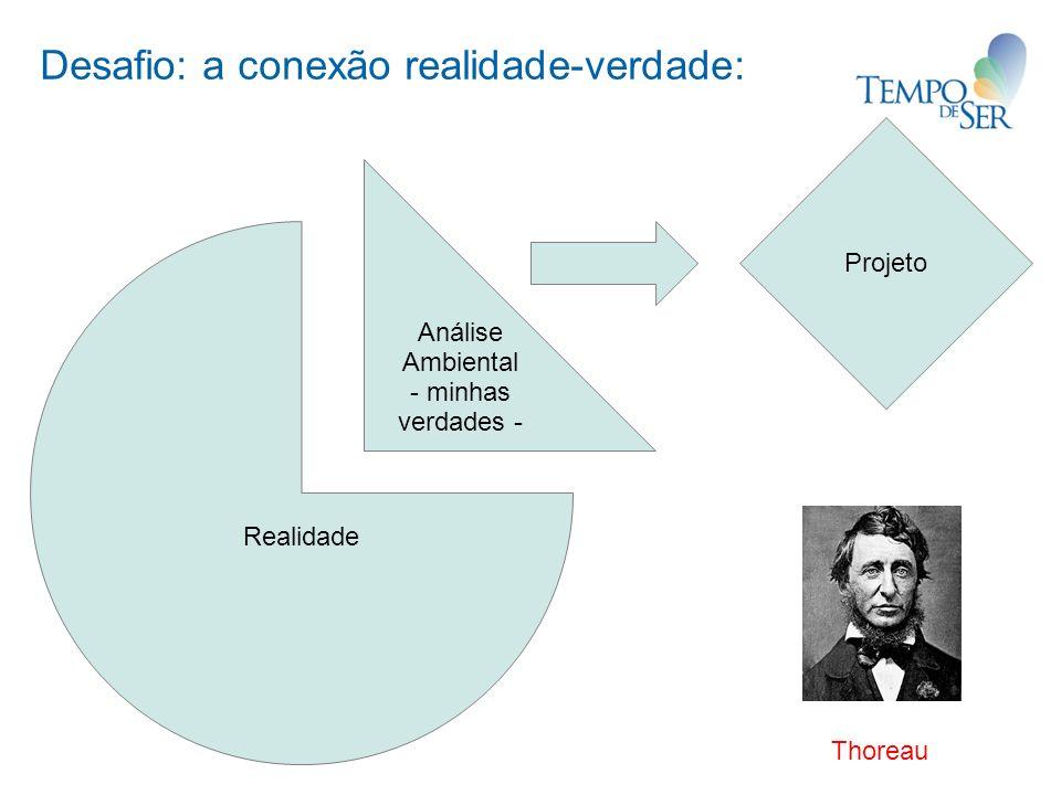 Desafio: a conexão realidade-verdade: Realidade Análise Ambiental - minhas verdades - Projeto Thoreau