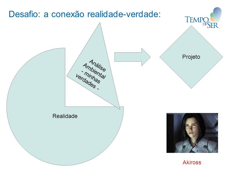 Desafio: a conexão realidade-verdade: Realidade Análise Ambiental - minhas verdades - Projeto Akiross