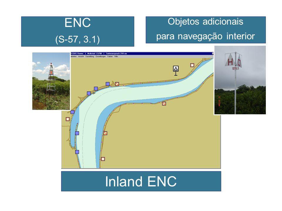 ENC (S-57, 3.1) Objetos adicionais para navegação interior Inland ENC