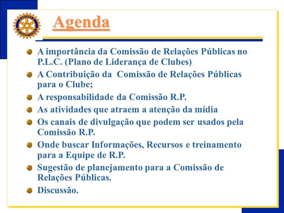 E-Learning Center do Rotary – Relações públicas Planejar