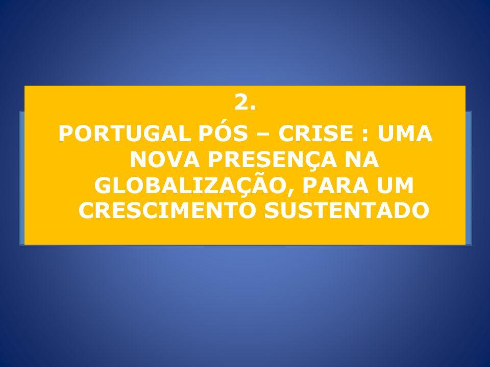 2. PORTUGAL PÓS – CRISE : UMA NOVA PRESENÇA NA GLOBALIZAÇÃO, PARA UM CRESCIMENTO SUSTENTADO