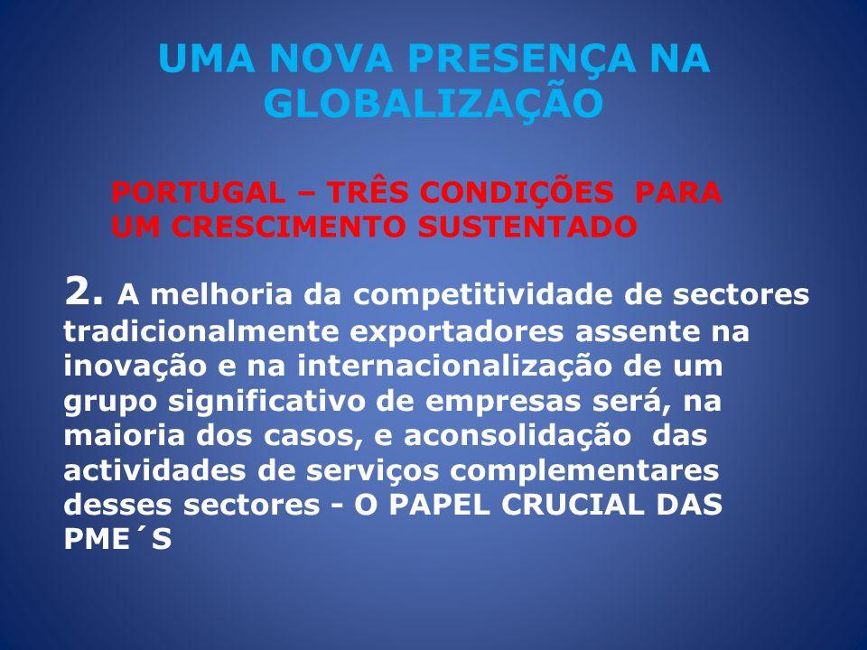 UMA NOVA PRESENÇA NA GLOBALIZAÇÃO 2. A melhoria da competitividade de sectores tradicionalmente exportadores assente na inovação e na internacionaliza