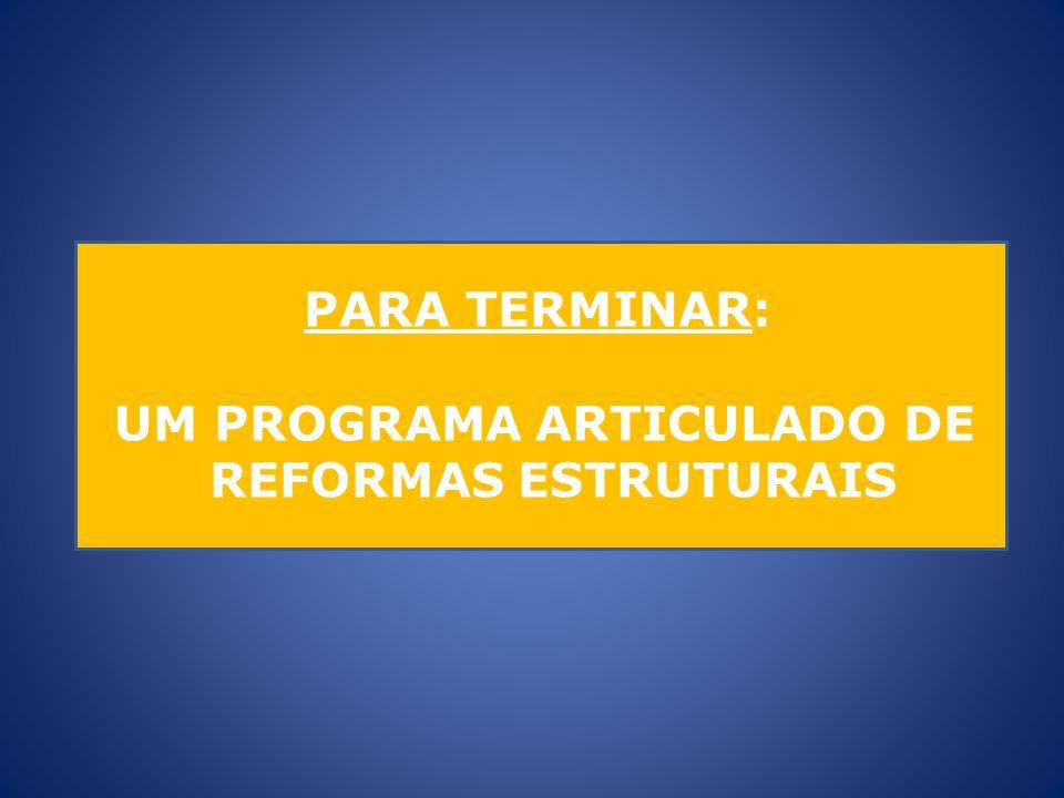 PARA TERMINAR: UM PROGRAMA ARTICULADO DE REFORMAS ESTRUTURAIS