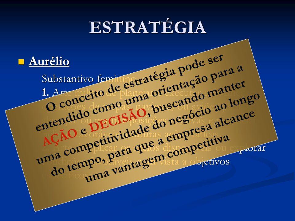 ESTRATÉGIA Aurélio Aurélio Substantivo feminino.1.