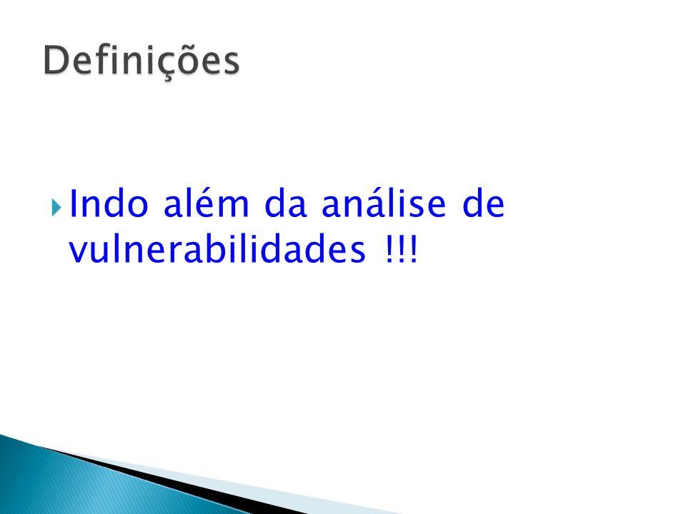 Indo além da análise de vulnerabilidades !!!