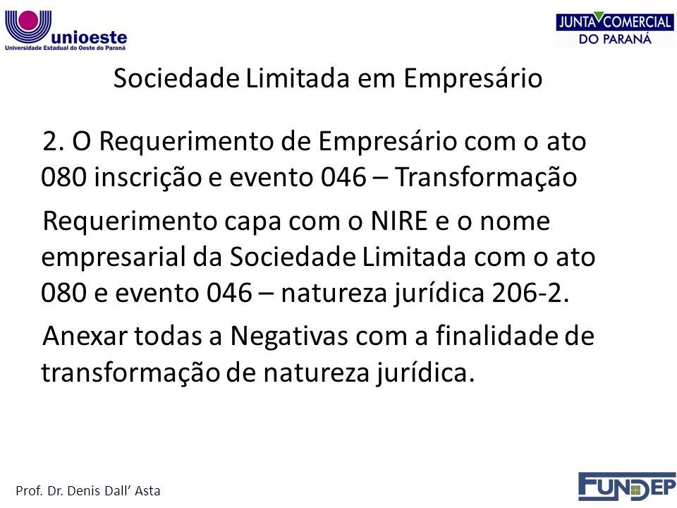 Sociedade Limitada em Empresário 2.
