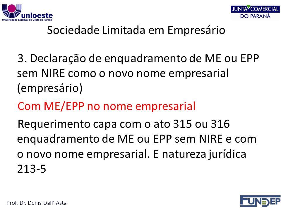 Sociedade Limitada em Empresário 3.