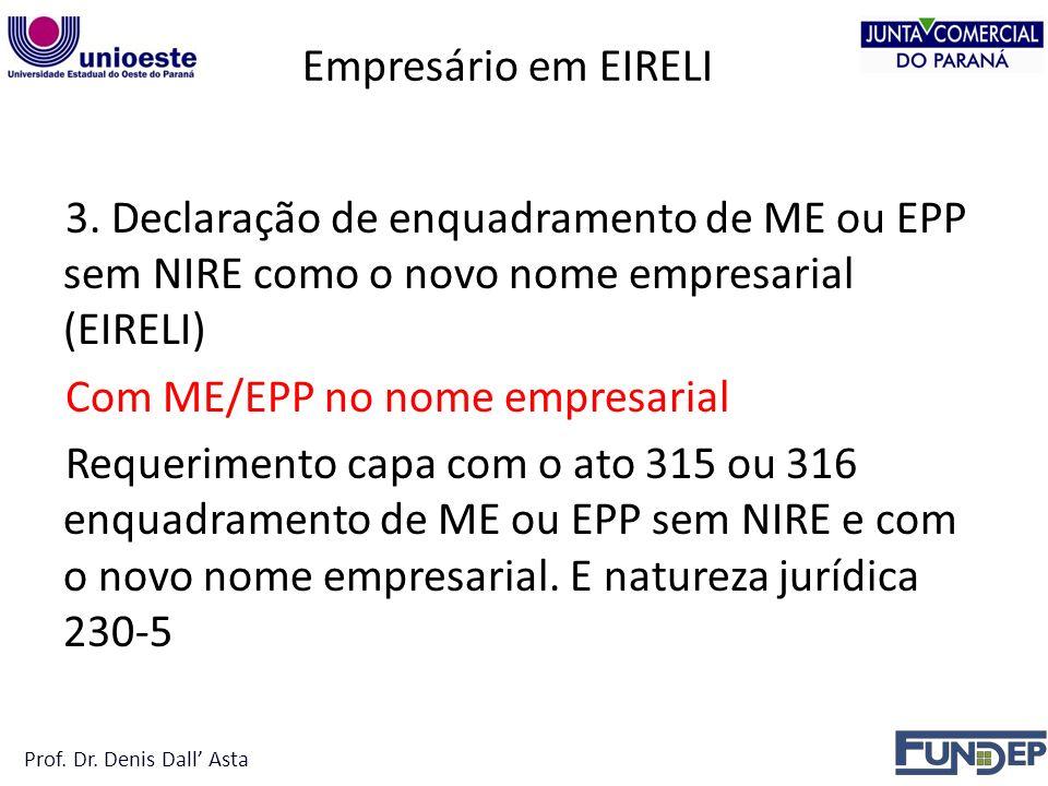 Empresário em EIRELI 3.