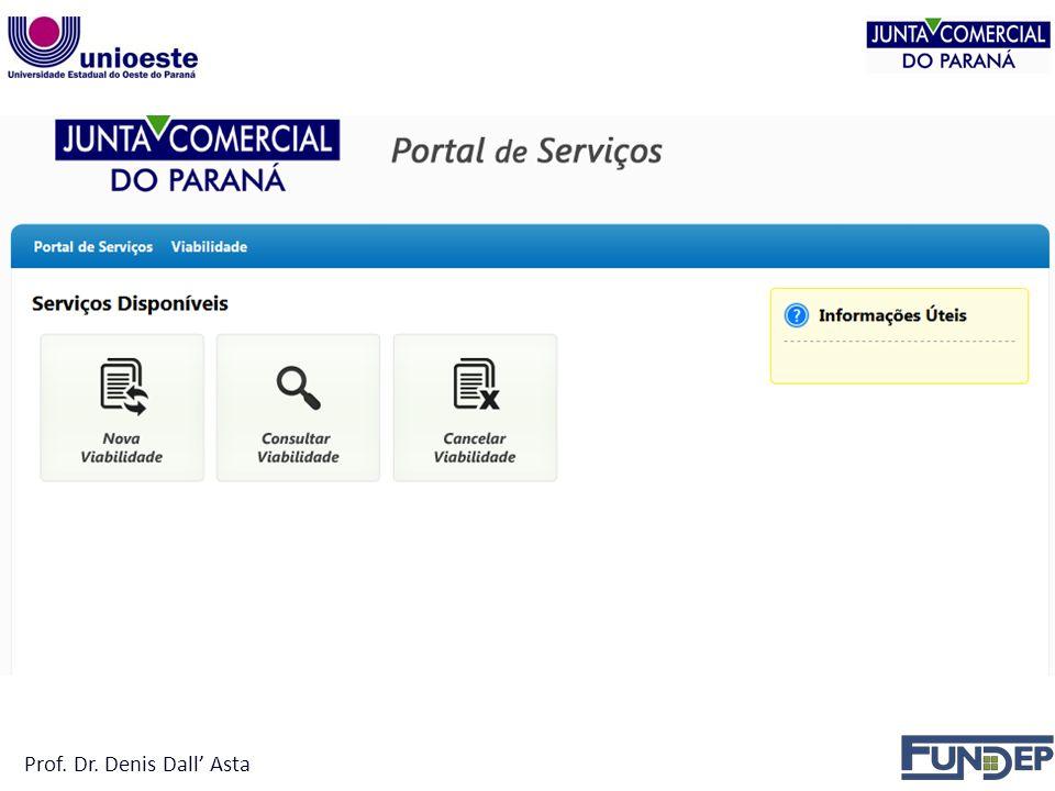 Empresário em Sociedade Limitada Fazer consulta de viabilidade aprovando o nome empresarial; Prof.