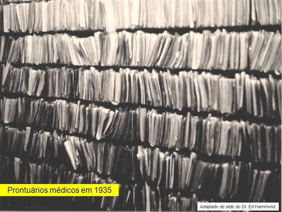Prontuários médicos em 1935 8 Adaptado de slide do Dr. Ed Hammond
