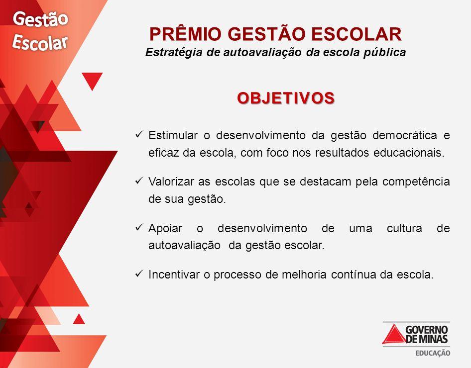 Estimular o desenvolvimento da gestão democrática e eficaz da escola, com foco nos resultados educacionais. Valorizar as escolas que se destacam pela