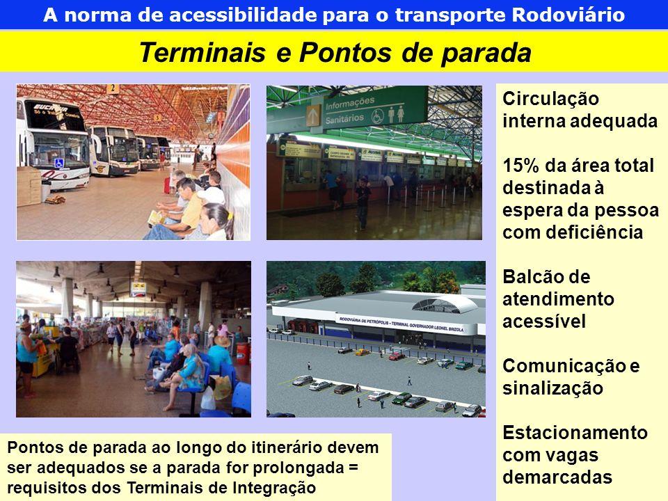 As normas de acessibilidade para o Transporte Urbano 4 Embarque e desembarque no Terminal Eduardo Cazoto Belopede INMETRO – Junho/2009 A norma de acessibilidade para o transporte Rodoviário