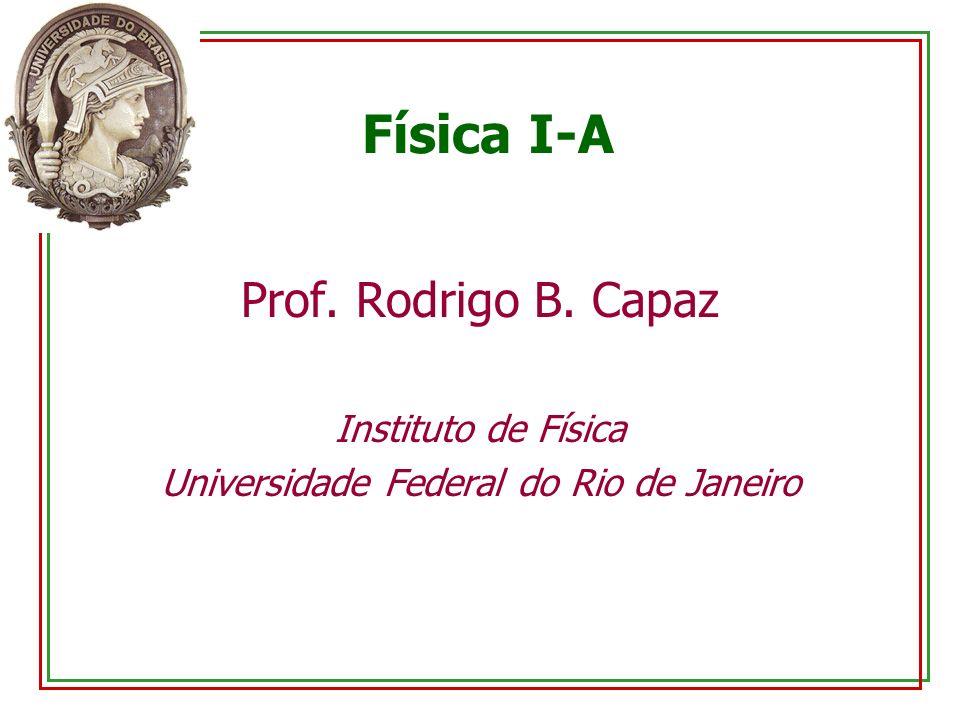 Física I-A Prof. Rodrigo B. Capaz Instituto de Física Universidade Federal do Rio de Janeiro