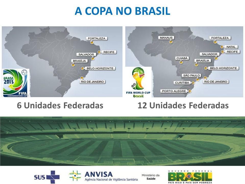 A COPA NO BRASIL 6 Unidades Federadas12 Unidades Federadas