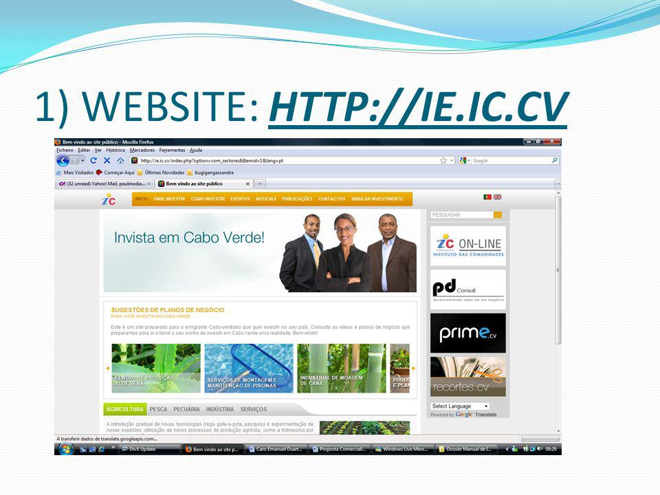 1) WEBSITE: HTTP://IE.IC.CV