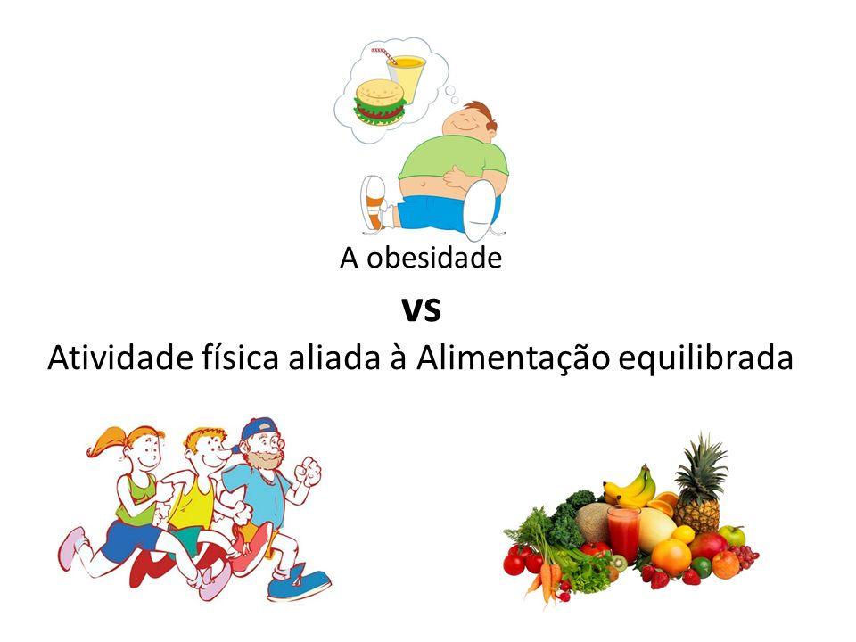 A obesidade vs Atividade física aliada à Alimentação equilibrada