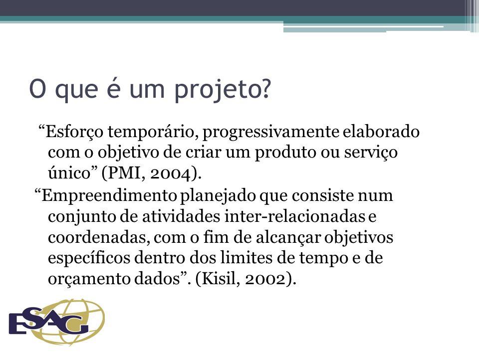 Diagnóstico: entendendo o contexto do projeto Um bom diagnóstico ajudará: Na determinação da viabilidade inicial do projeto Na definição coerente do escopo Na formulação de justificativas consistentes