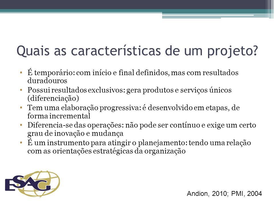 Definição dos Produtos – Entregas do projeto Proposição de produtos e/ou situações tangíveis que se espera alcançar com o projeto, a partir da realização das atividades.