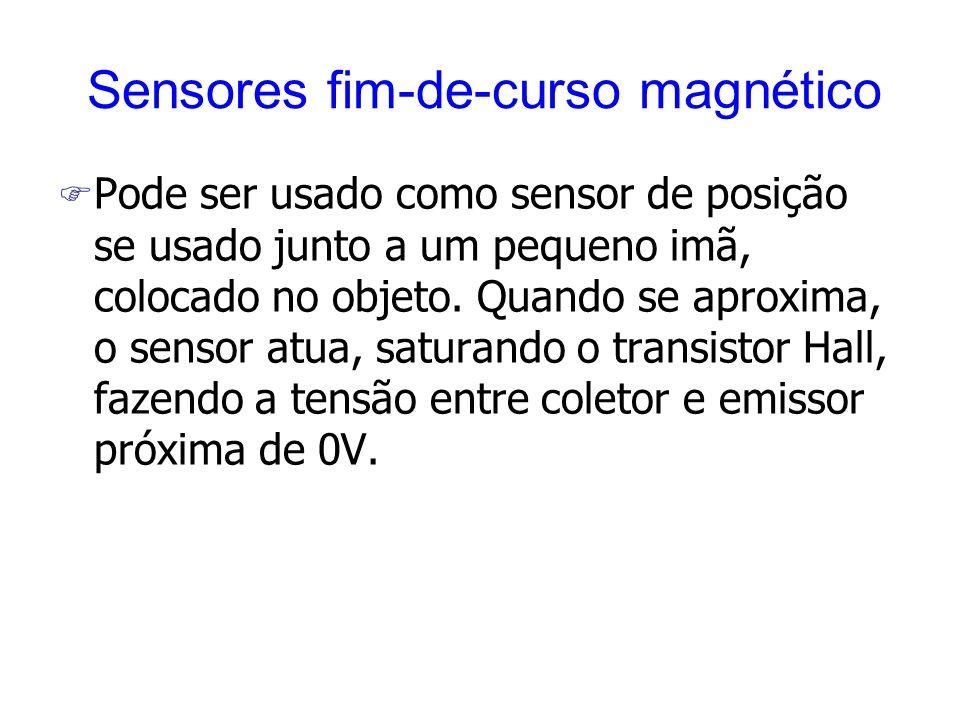 F Pode ser usado como sensor de posição se usado junto a um pequeno imã, colocado no objeto. Quando se aproxima, o sensor atua, saturando o transistor