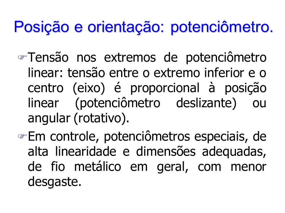 Posição e orientação: potenciômetro.