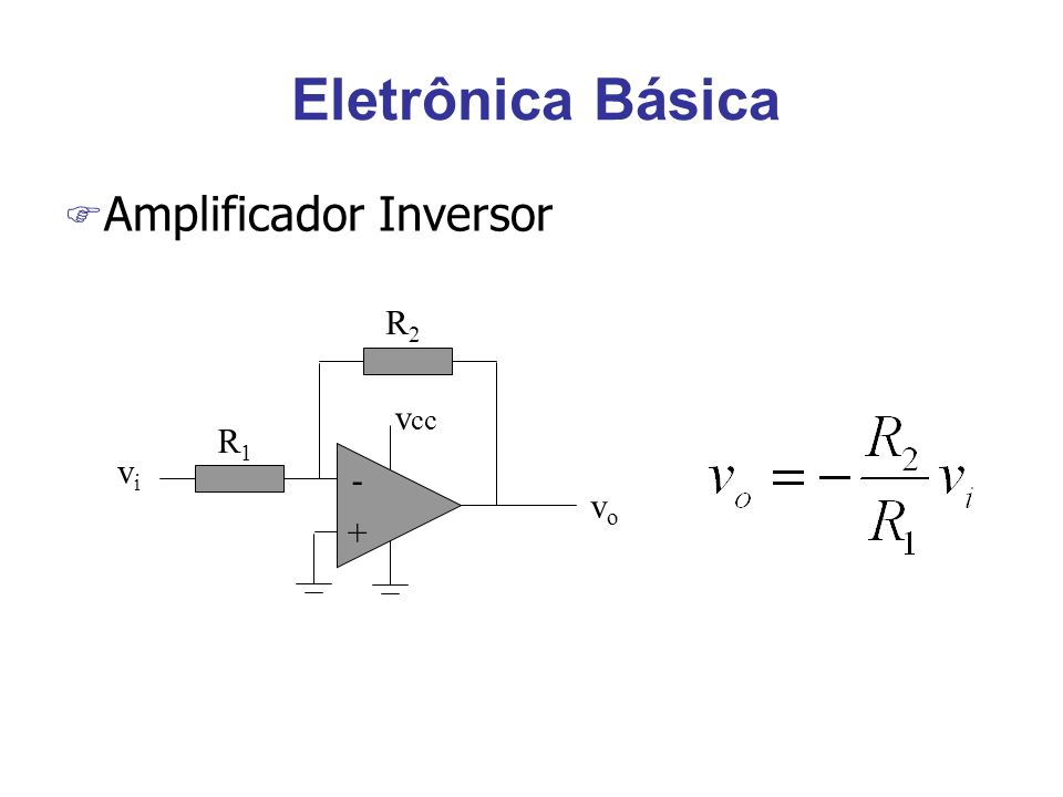 Eletrônica Básica F Leis de Kirchhoff wA soma das correntes que entram em um nó é igual a soma das correntes que saem deste nó.