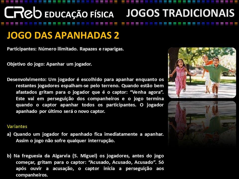JOGO DO CAÇADOR E DOS COELHOS JOGOS TRADICIONAIS Participantes: 6 - 20 rapazes/raparigas.