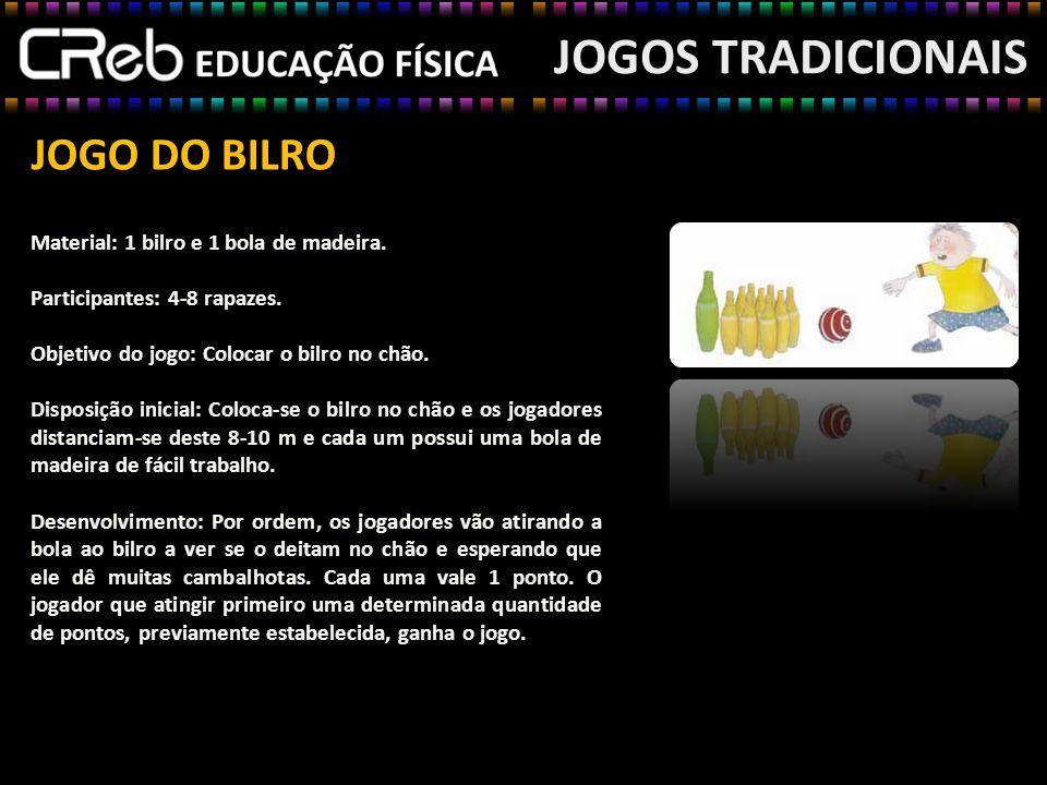 JOGO DO BILRO JOGOS TRADICIONAIS Variantes: a)Na freguesia da Salga (S.