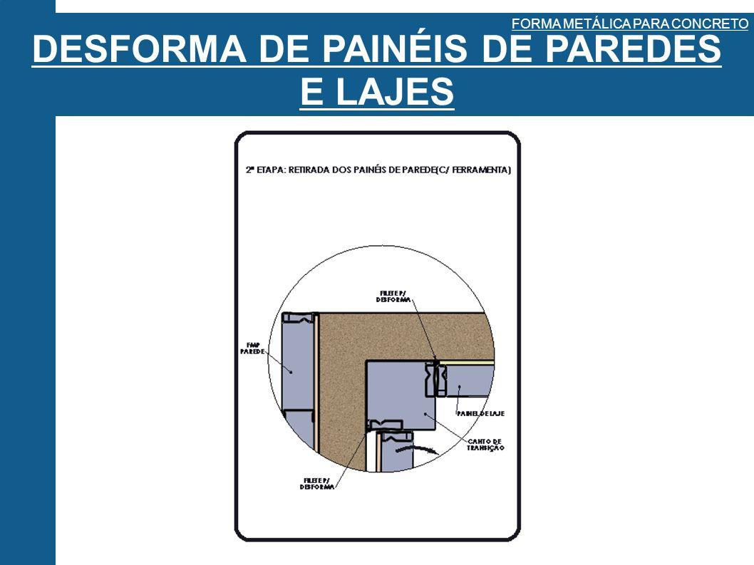 DESFORMA DE PAINÉIS DE PAREDES E LAJES FORMA METÁLICA PARA CONCRETO