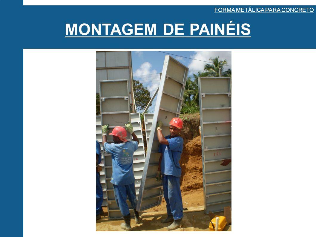 MONTAGEM DE PAINÉIS FORMA METÁLICA PARA CONCRETO