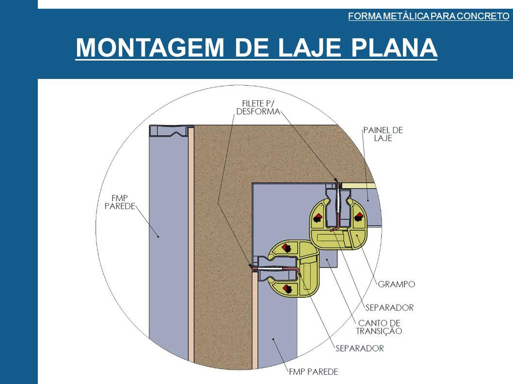 MONTAGEM DE LAJE PLANA FORMA METÁLICA PARA CONCRETO