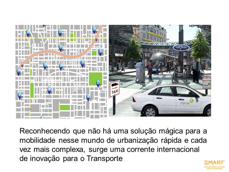 Reconhecendo que não há uma solução mágica para a mobilidade nesse mundo de urbanização rápida e cada vez mais complexa, surge uma corrente internacio