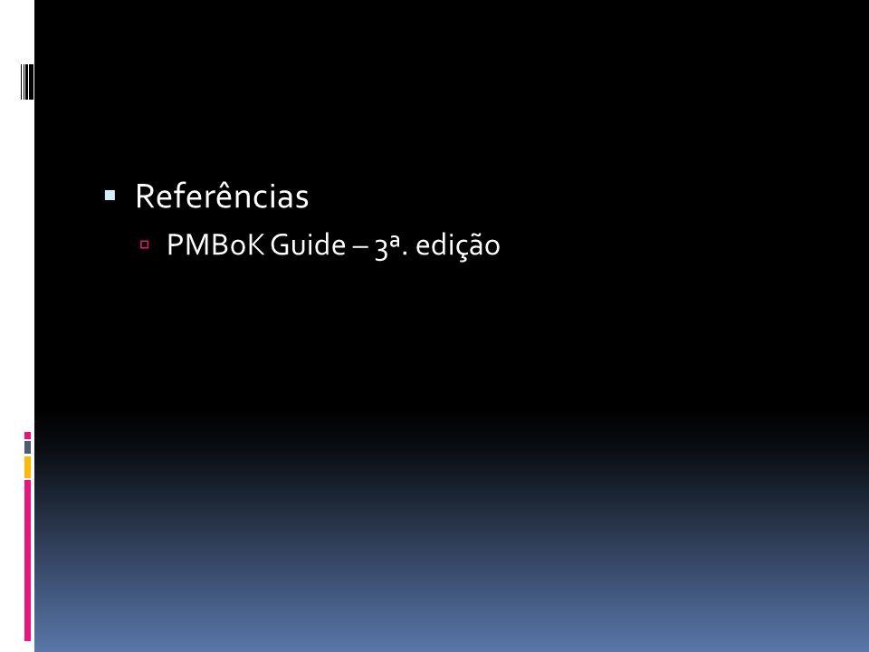Referências PMBoK Guide – 3ª. edição