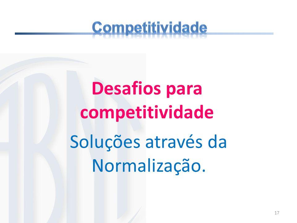 17 Desafios para competitividade Soluções através da Normalização.
