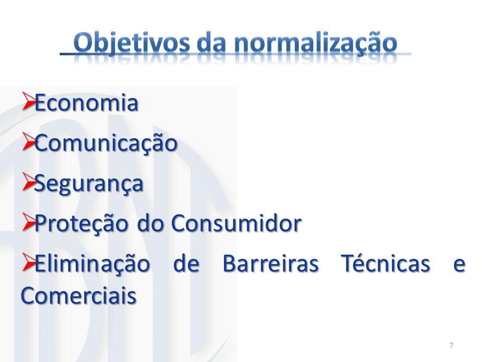 Economia Economia Comunicação Comunicação Segurança Segurança Proteção do Consumidor Proteção do Consumidor Eliminação de Barreiras Técnicas e Comerci