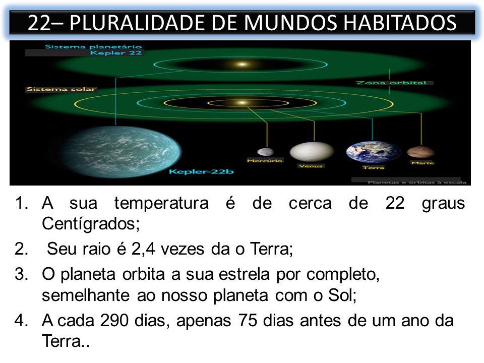 1.A sua temperatura é de cerca de 22 graus Centígrados; 2. Seu raio é 2,4 vezes da o Terra; 3.O planeta orbita a sua estrela por completo, semelhante