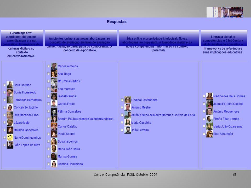 Centro Competência FCUL Outubro 200915