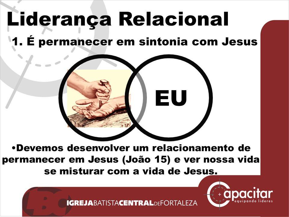 Liderança Relacional Devemos desenvolver um relacionamento de permanecer em Jesus (João 15) e ver nossa vida se misturar com a vida de Jesus.