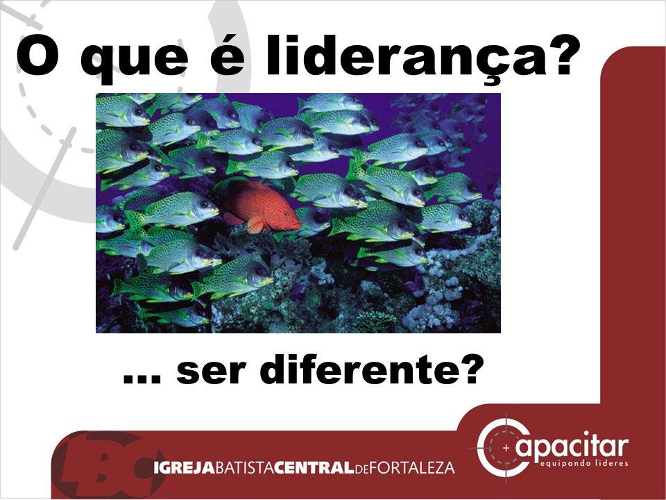 O que é liderança?... ser diferente?