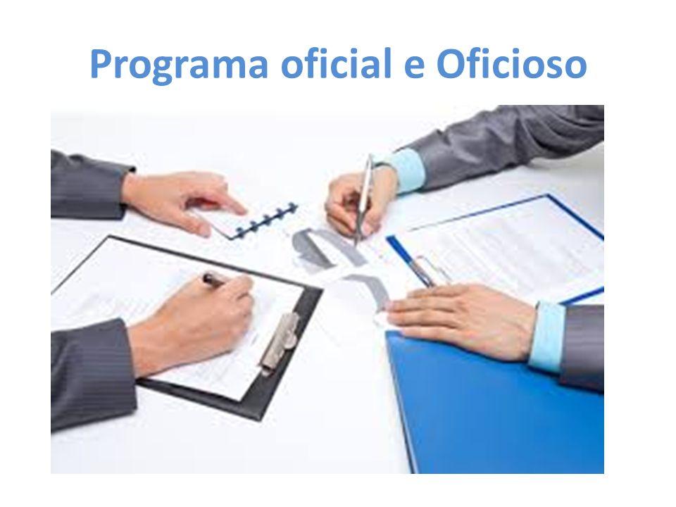 Programa oficial e Oficioso