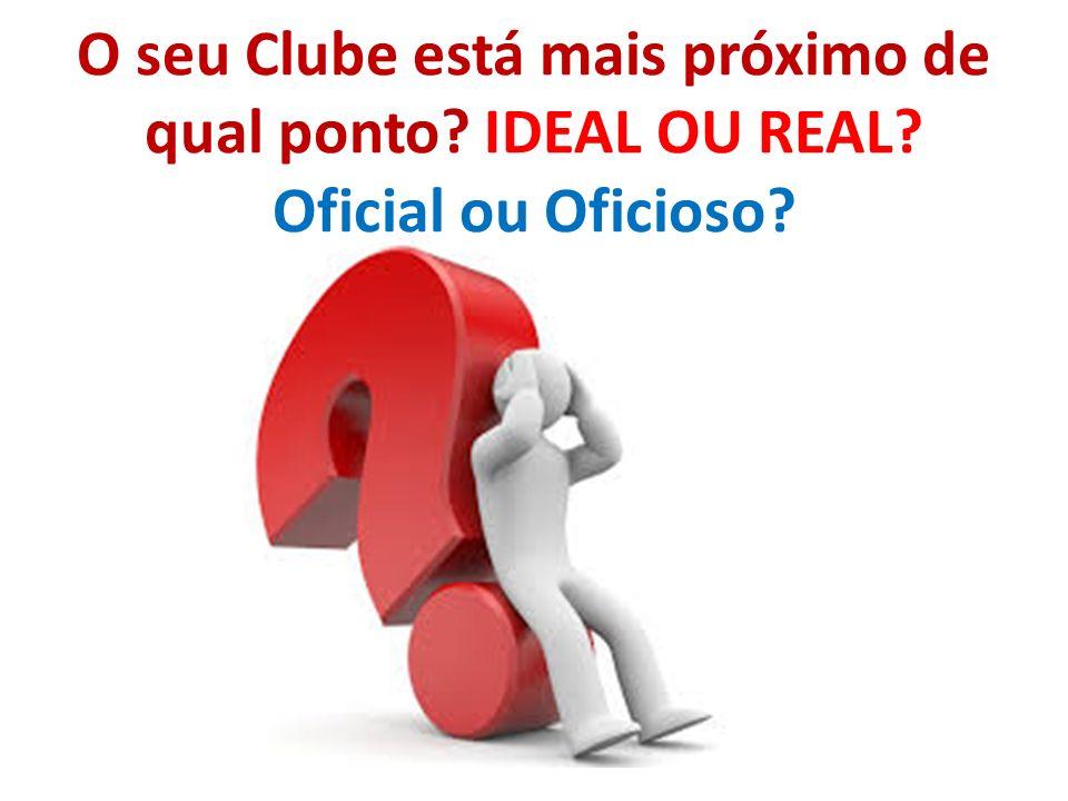 O seu Clube está mais próximo de qual ponto? IDEAL OU REAL? Oficial ou Oficioso?