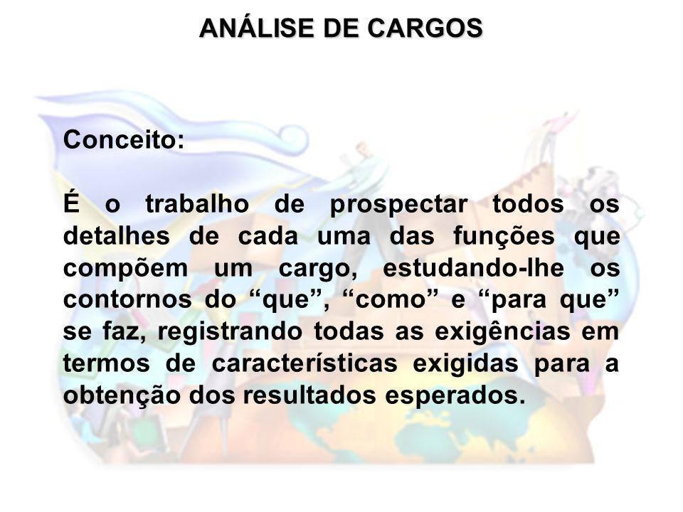 DESCRIÇÃO DE CARGOS PRINCIPAIS FATORES DE AVALIAÇÃO CONHECIMENTO: INSTRUÇÃO E CONHECIMENTOS COMPLEMENTARES NECESSÁRIOS PARA OCUPAÇÃO DO CARGO.
