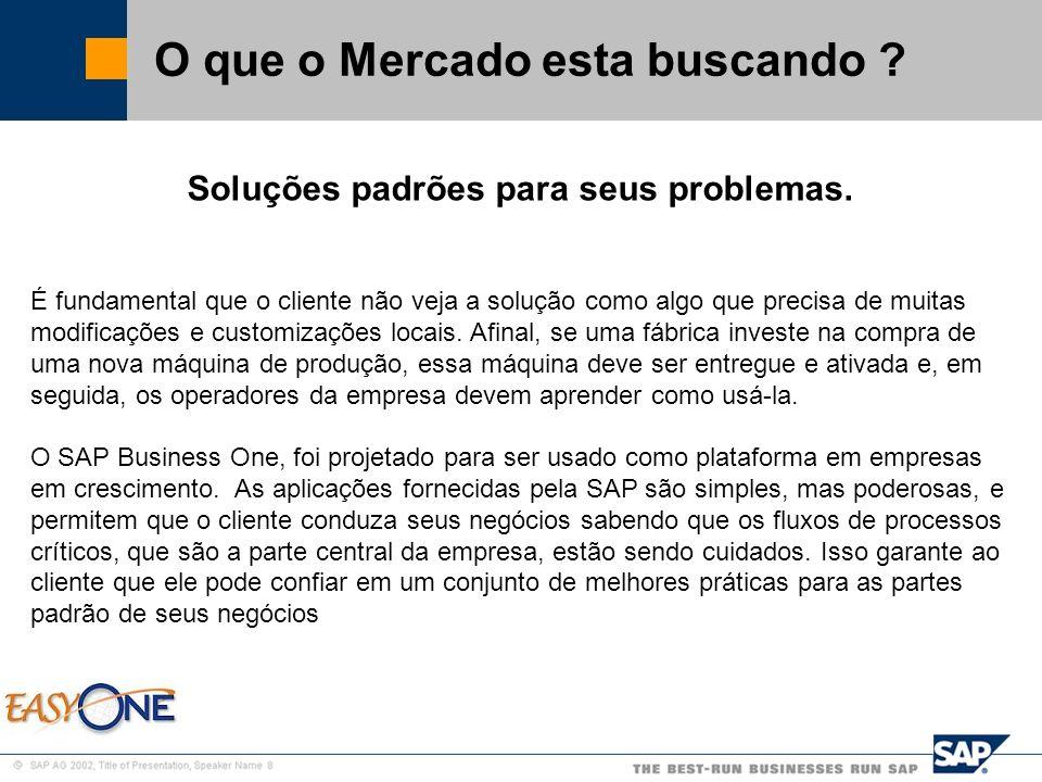 SAP Brazil – SMB Team O que é o Business One .
