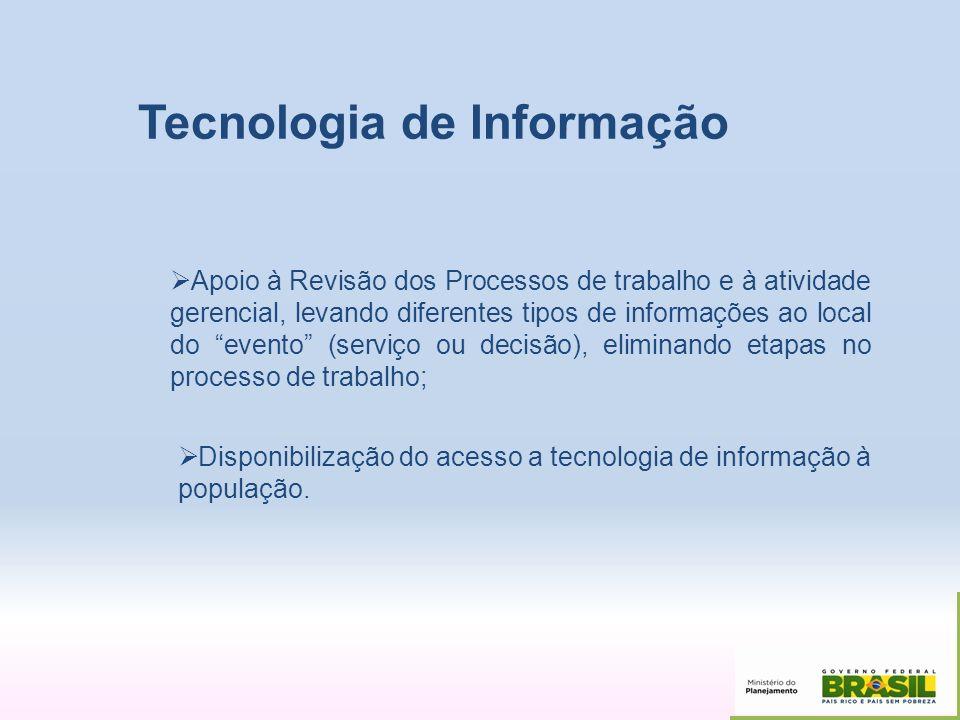 Tecnologia de Informação Apoio à Revisão dos Processos de trabalho e à atividade gerencial, levando diferentes tipos de informações ao local do evento