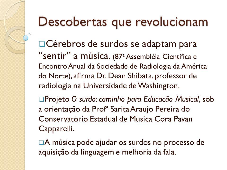 Descobertas que revolucionam Cérebros de surdos se adaptam para sentir a música. (87 a Assembléia Científica e Encontro Anual da Sociedade de Radiolog